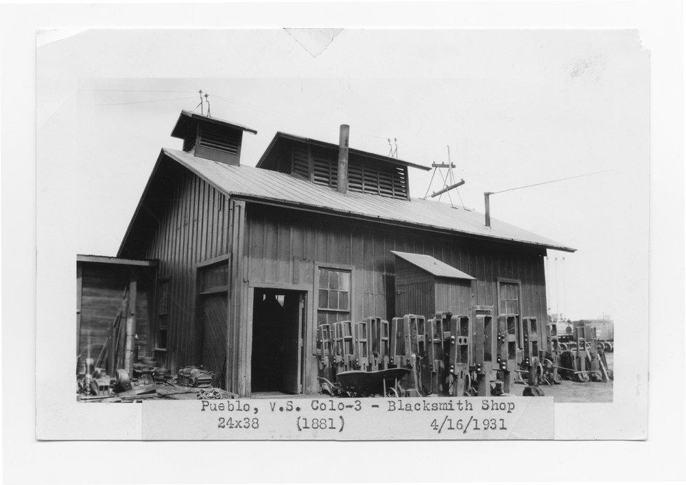 Atchison, Topeka & Santa Fe Railway blacksmith shop, Pueblo, Colorado