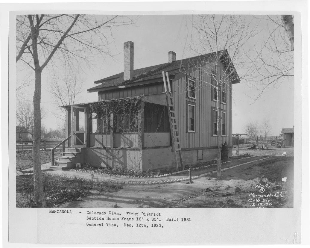 Atchison, Topeka & Santa Fe Railway Company section house, Manzanola, Colorado