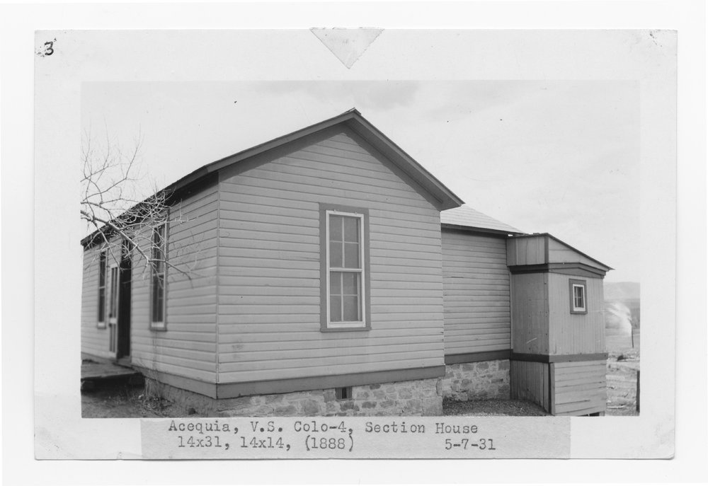 Atchison, Topeka & Santa Fe Railway Company section house, Acequia, Colorado