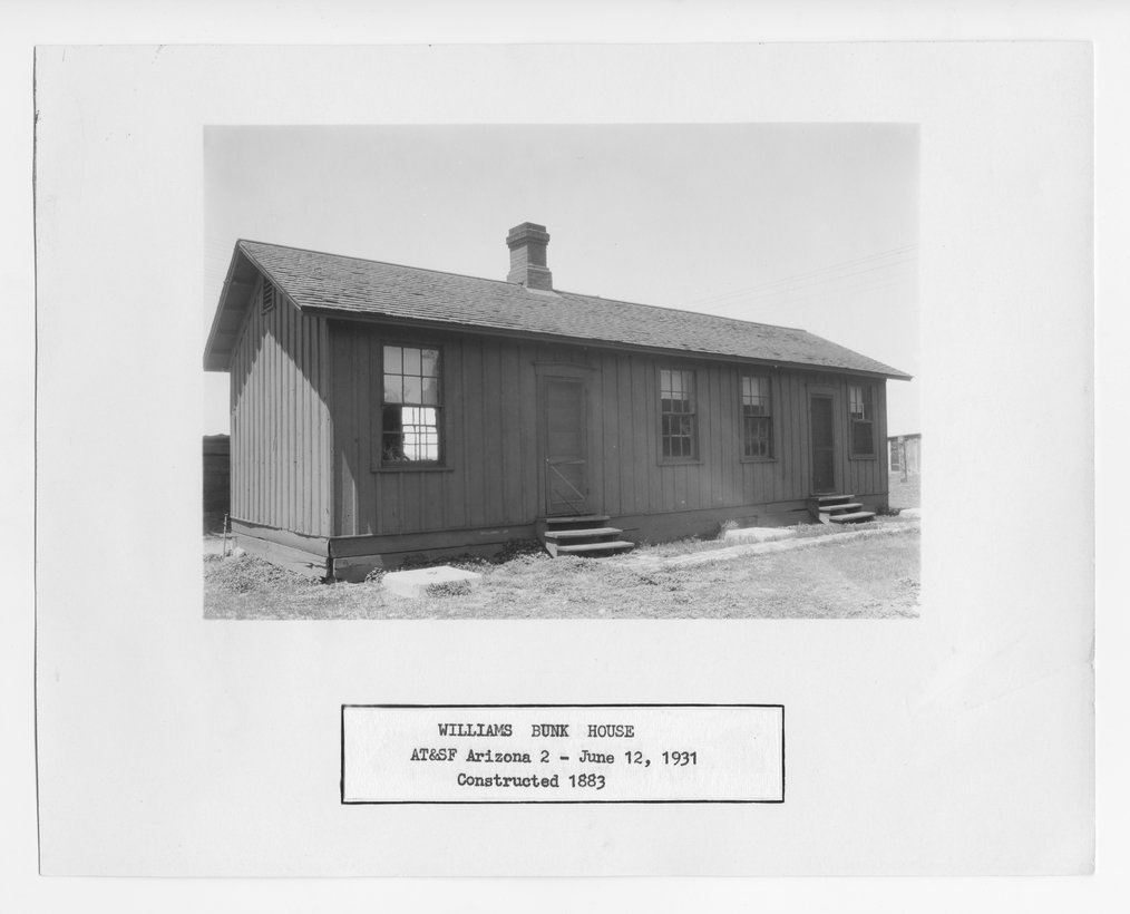 Atchison, Topeka & Santa Fe Railway Company's bunk house, Williams, Arizona