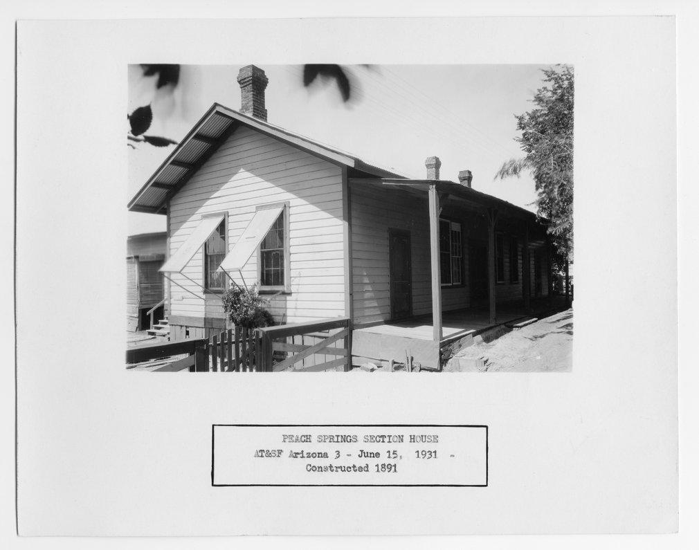 Atchison, Topeka and Santa Fe Railway Company section house, Peach Springs, Arizona