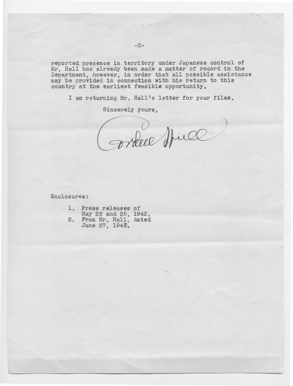 Cordell Hull to Senator Arthur Capper - 2