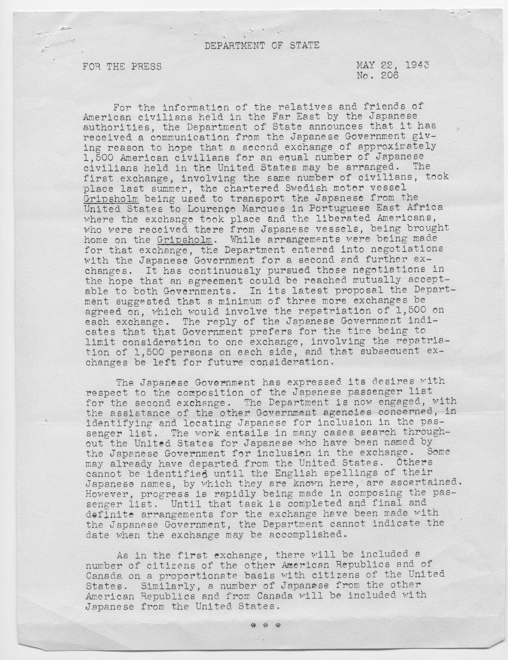 Cordell Hull to Senator Arthur Capper - 3