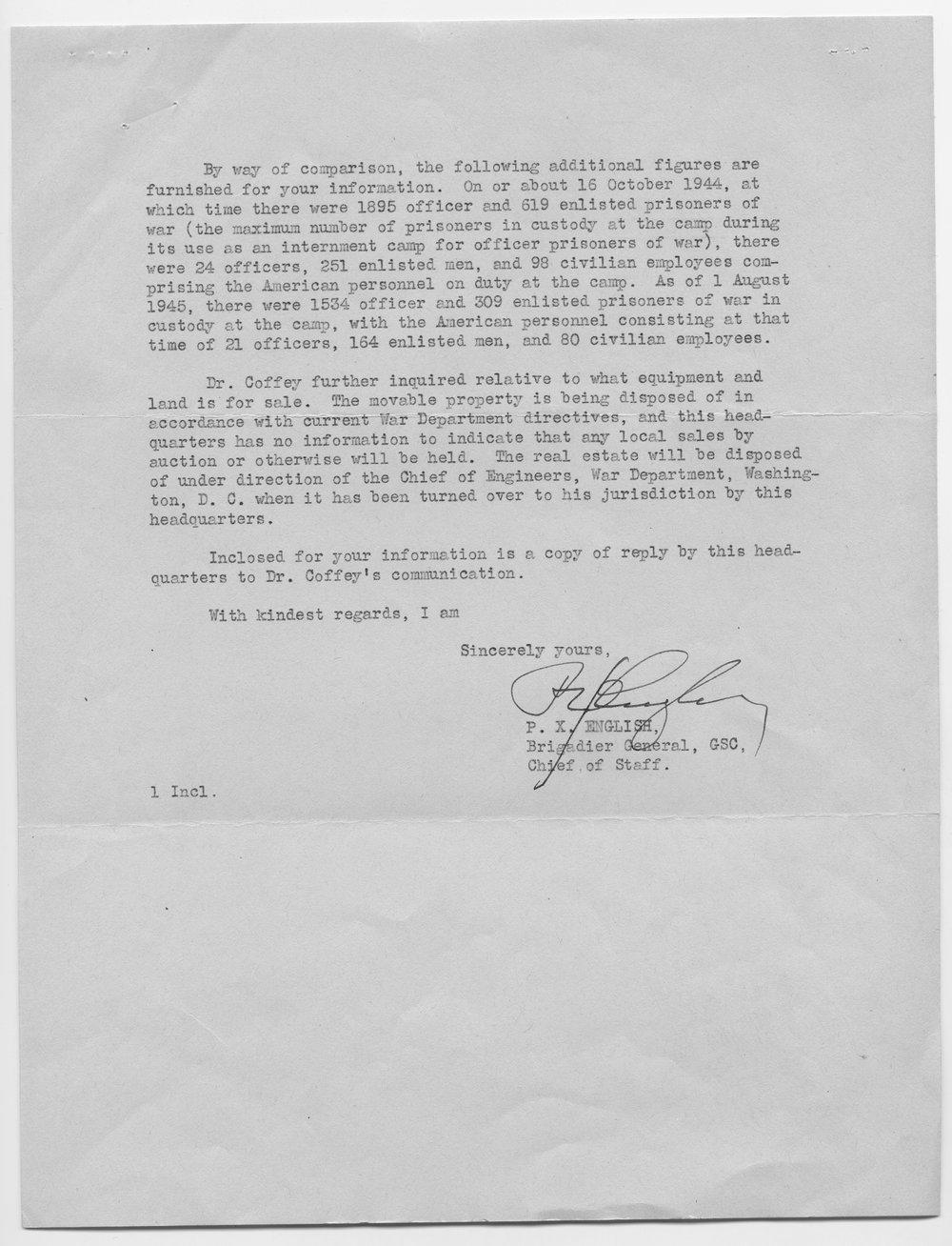 P. X. English to Senator Arthur Capper - 2