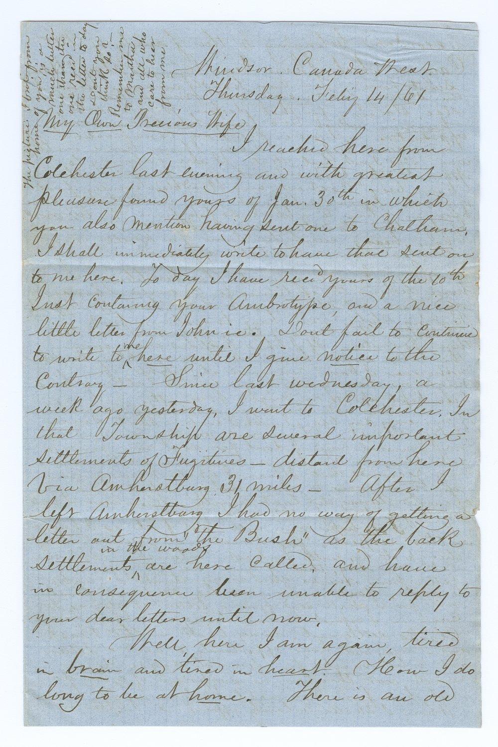 John Brown, Jr. correspondence - 1