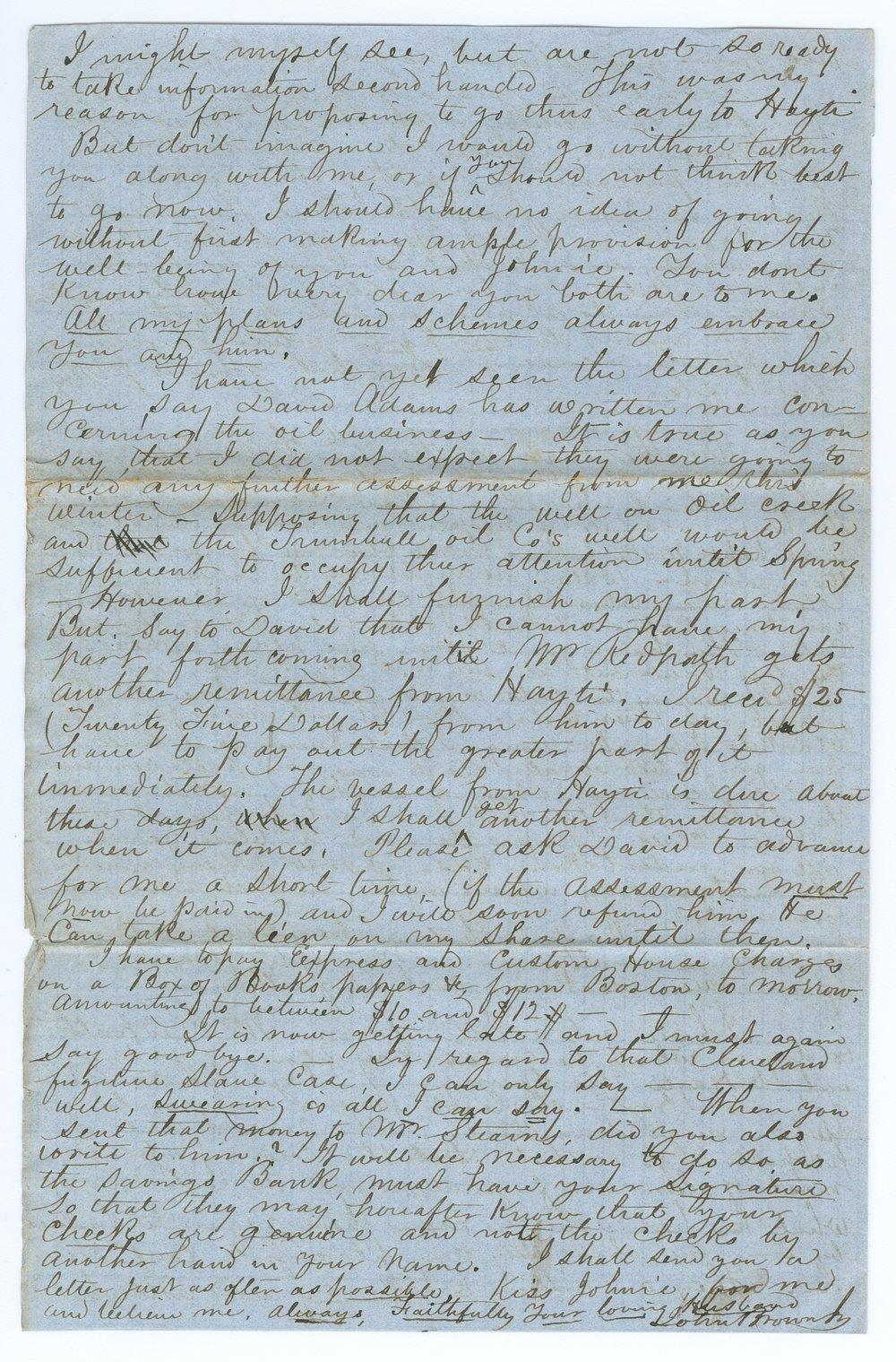 John Brown, Jr. correspondence - 4