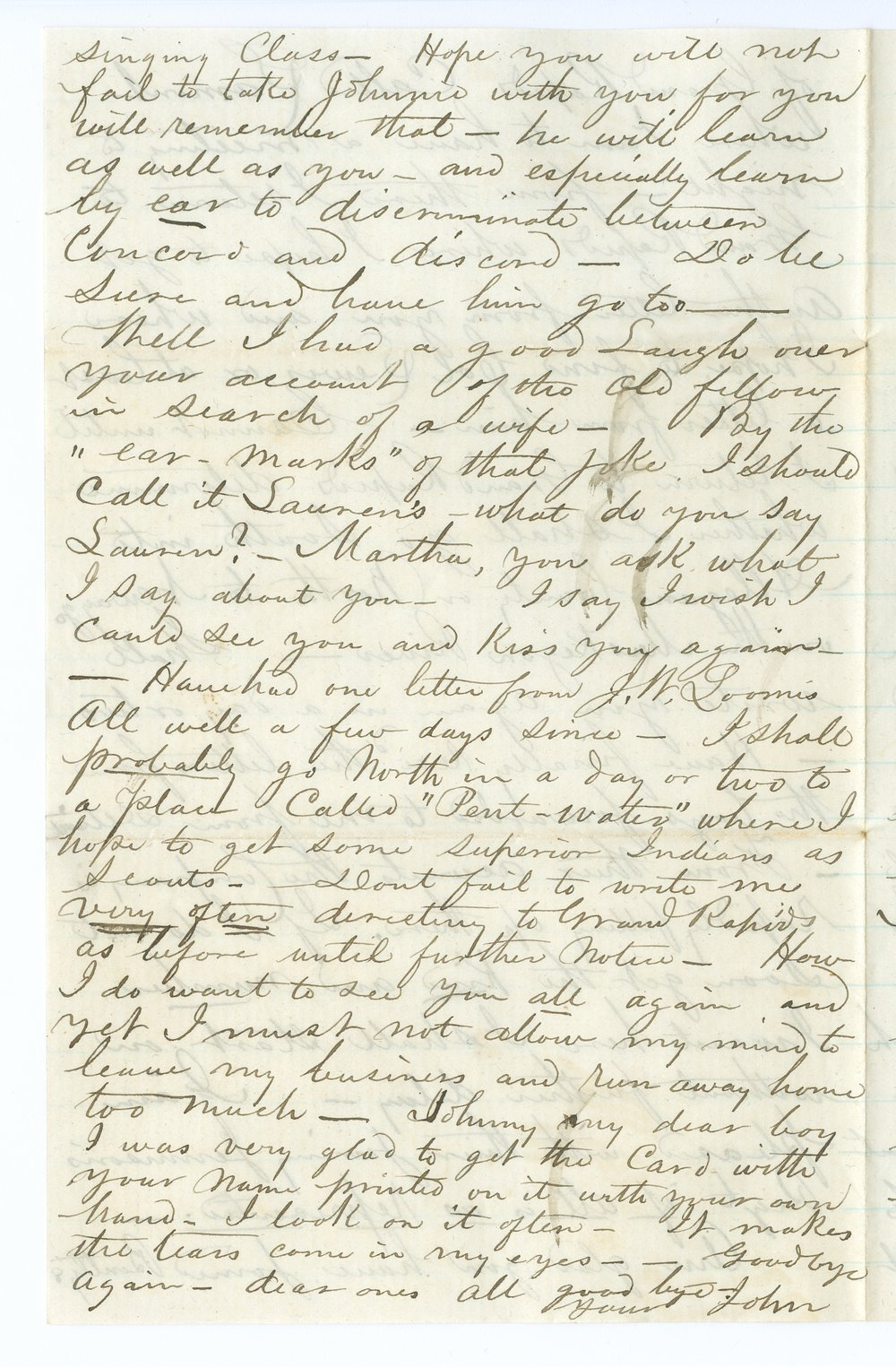 John Brown, Jr. correspondence - 8