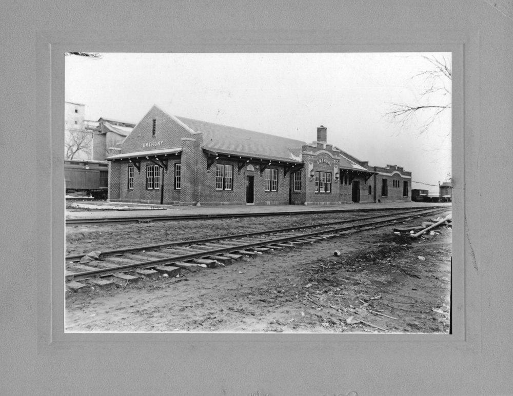 Atchison, Topeka and Santa Fe Railway Company depot, Anthony, Kansas
