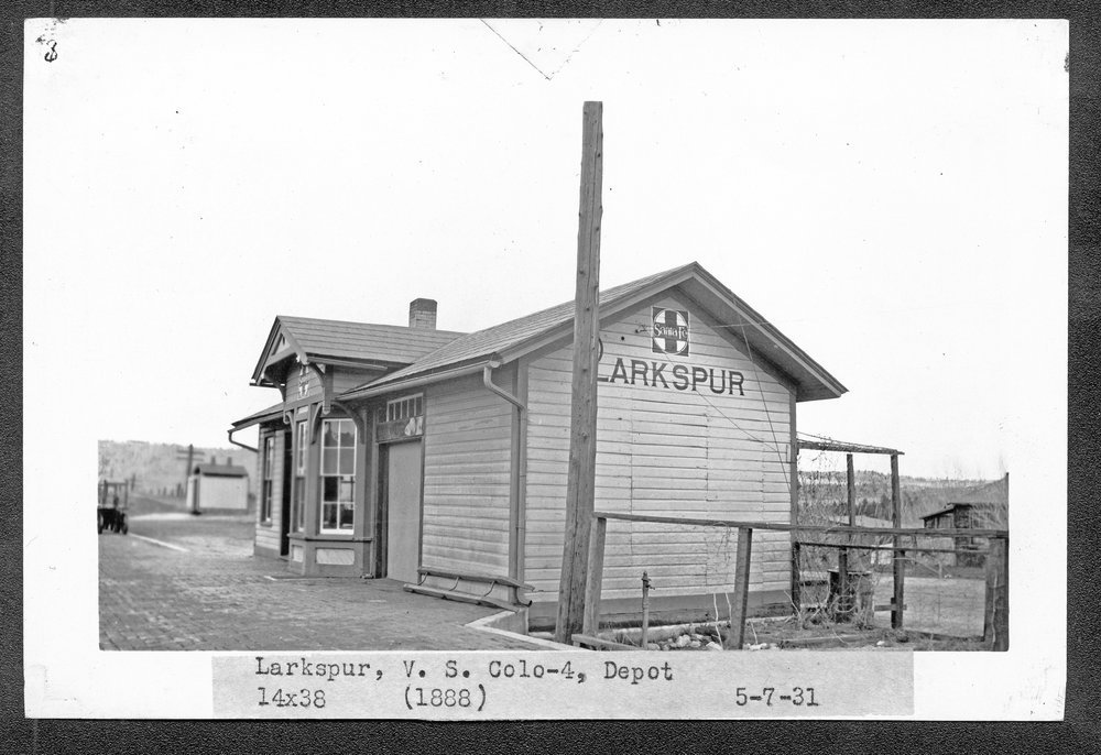 Atchison, Topeka & Santa Fe Railway Company depot, Larkspur, Colorado