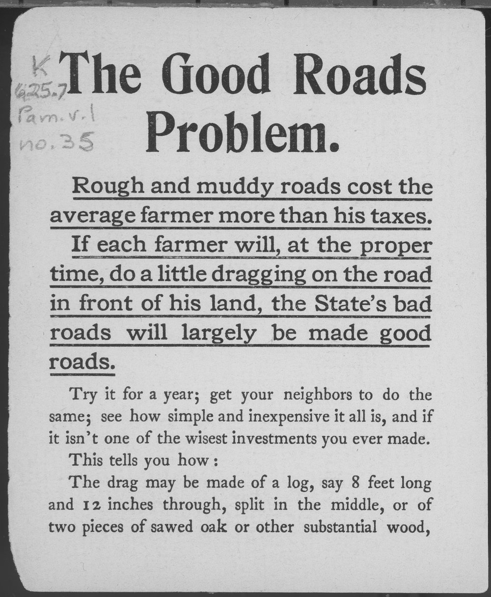 The good roads problem - 1