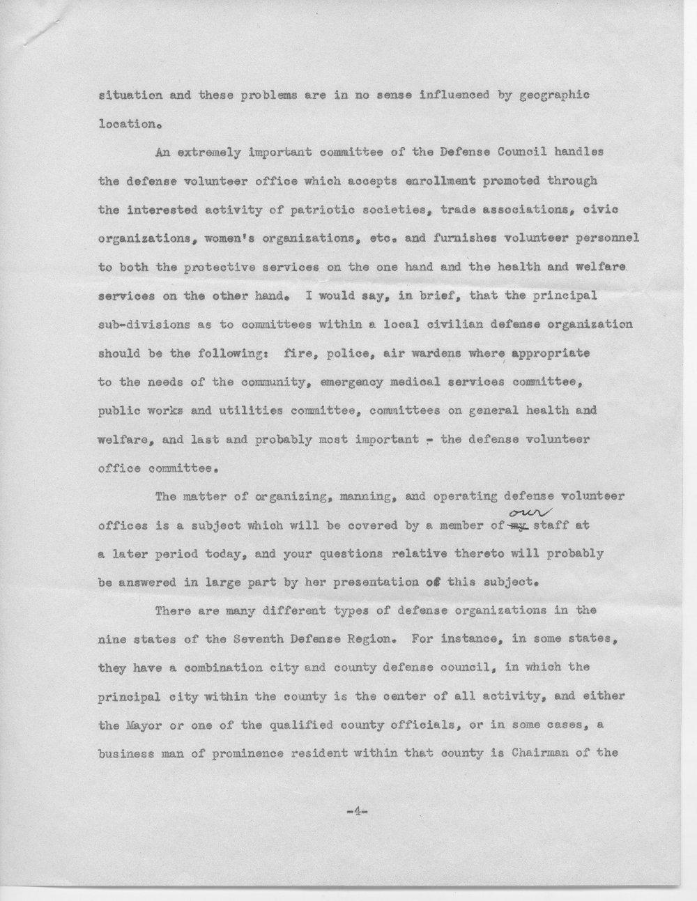 Address by Col. E.L. Wilbur - 4