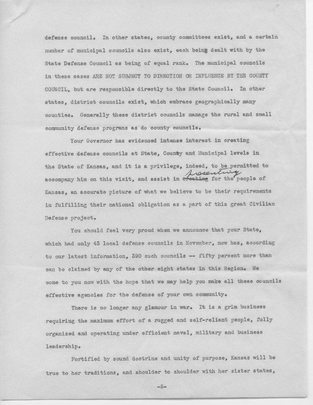 Address by Col. E.L. Wilbur - 5