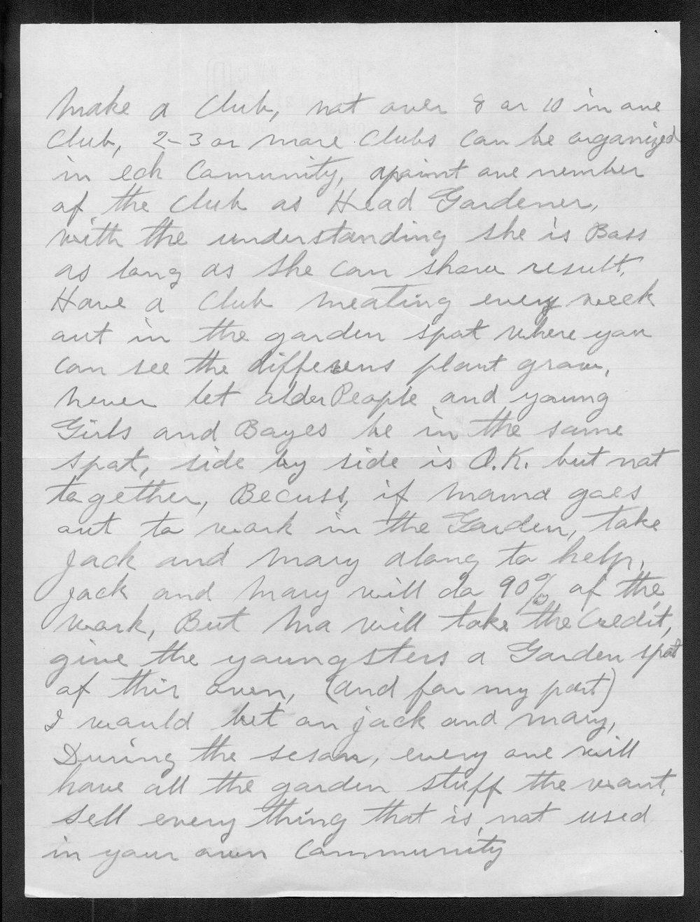 Carl Fredin to Governor Payne Ratner - 2