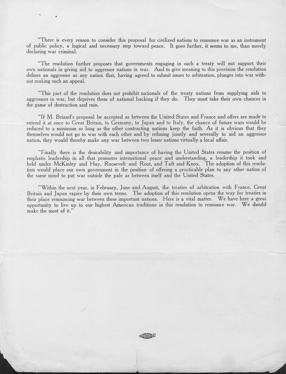 Senator Capper's proposed reply to the Briand Peace Offer - 3