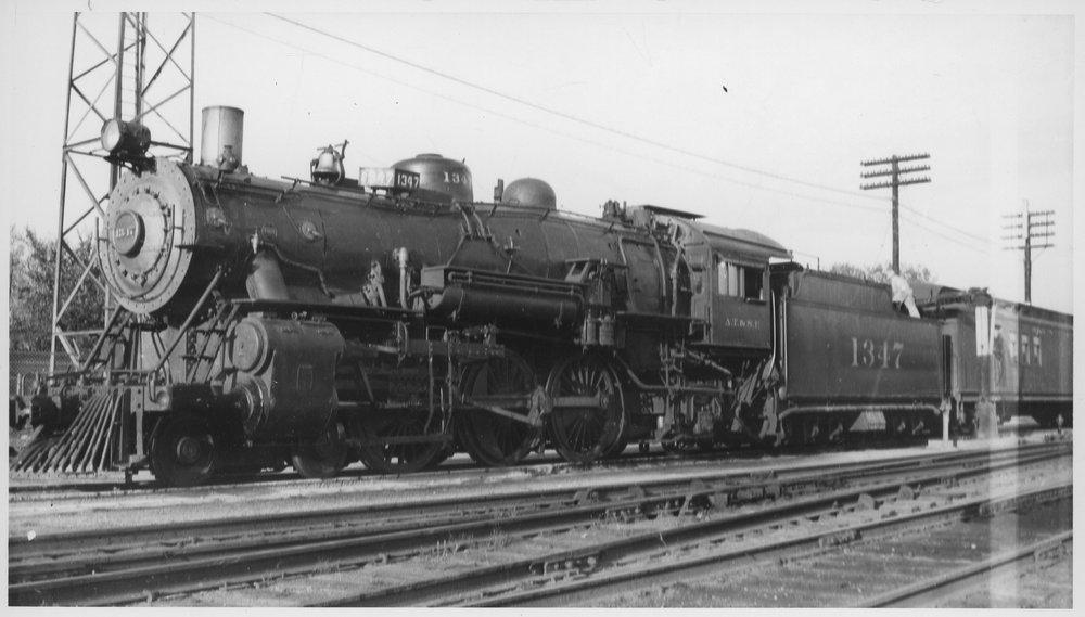 Atchison Topeka & Santa Fe passenger train, Emporia, Kansas