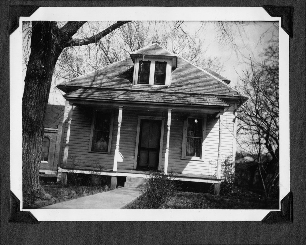 Melvin Brose photograph album - The nun's house at the St. Mary's Imaculate Conception Church in Valley Falls, Kansas.