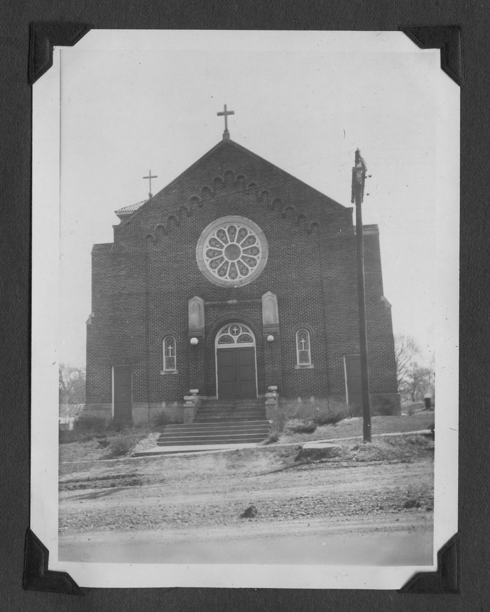 Melvin Brose photograph album - St. Mary's Imaculate Conception Church in Valley Falls, Kansas.