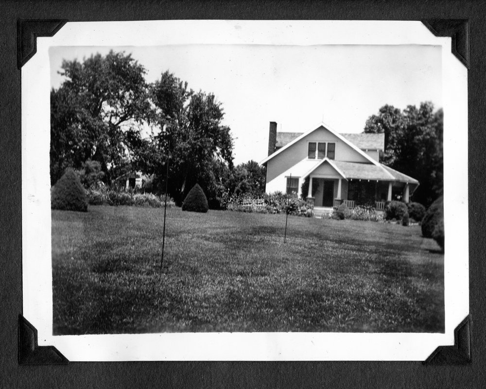 Melvin Brose photograph album - Carl and Leona Brose's house on their farm located southwest of Valley Falls, Kansas.