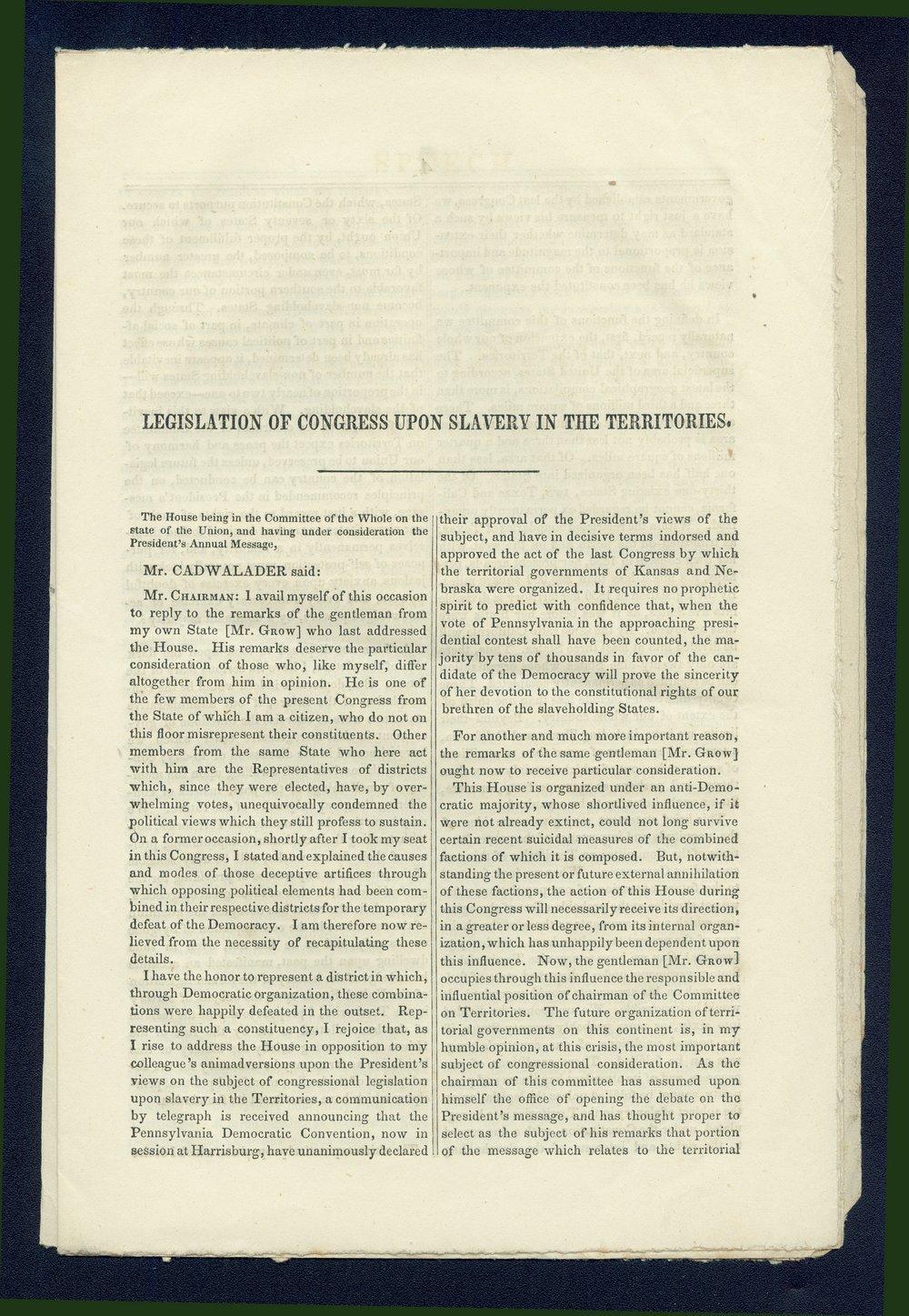 Speech of Congressman John Cadwalader - 3