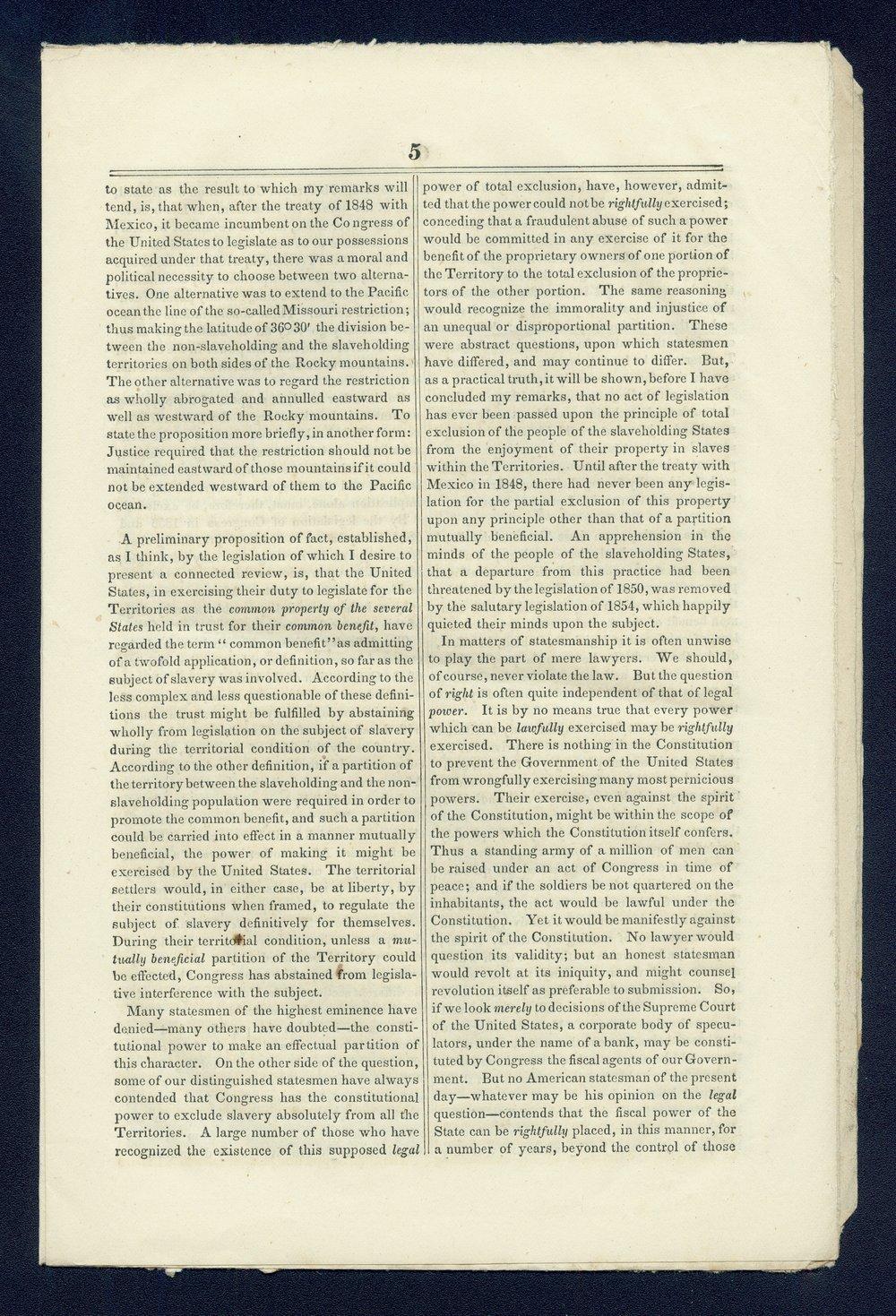 Speech of Congressman John Cadwalader - 5