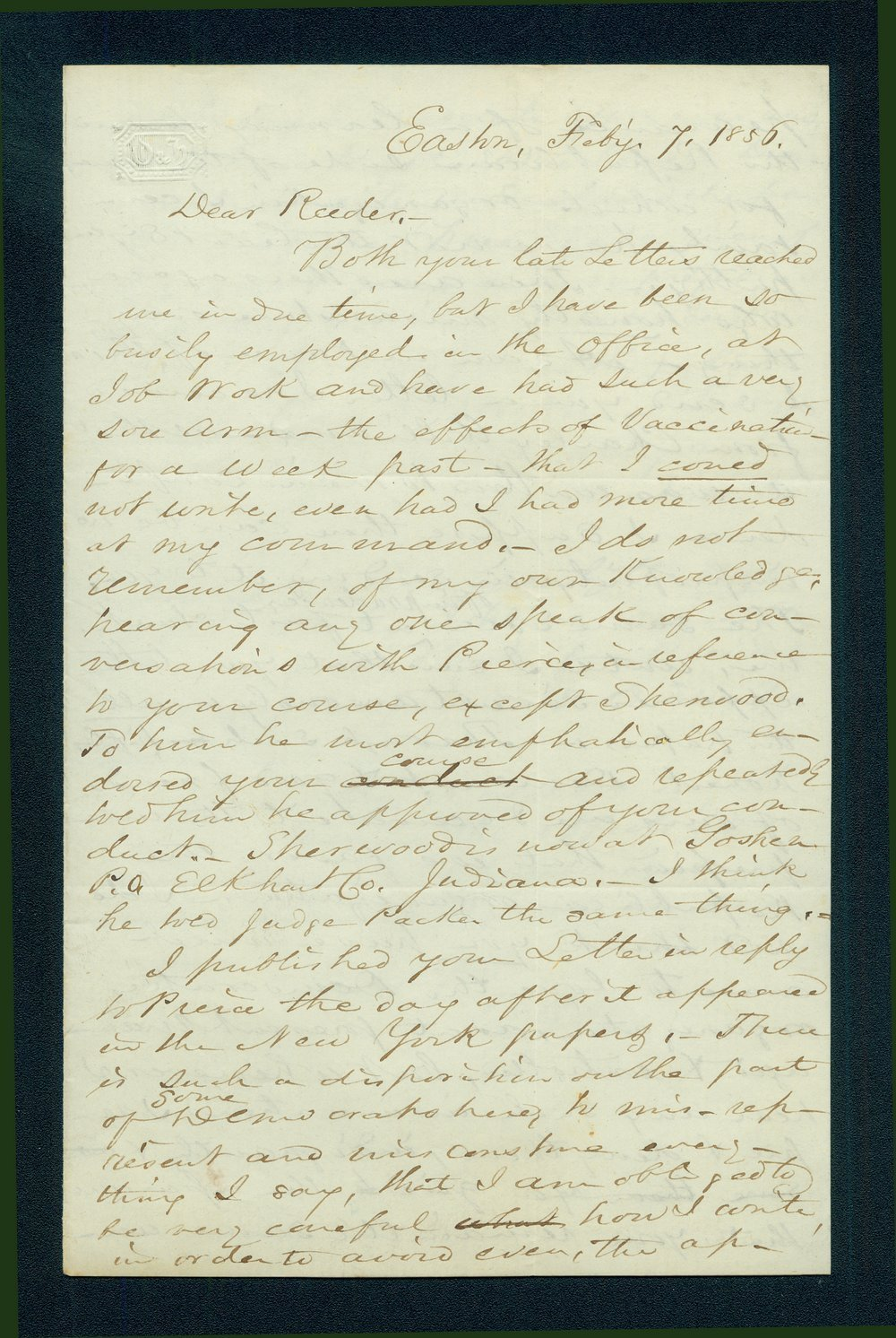 William H. Hutter to Andrew Horatio Reeder - 1