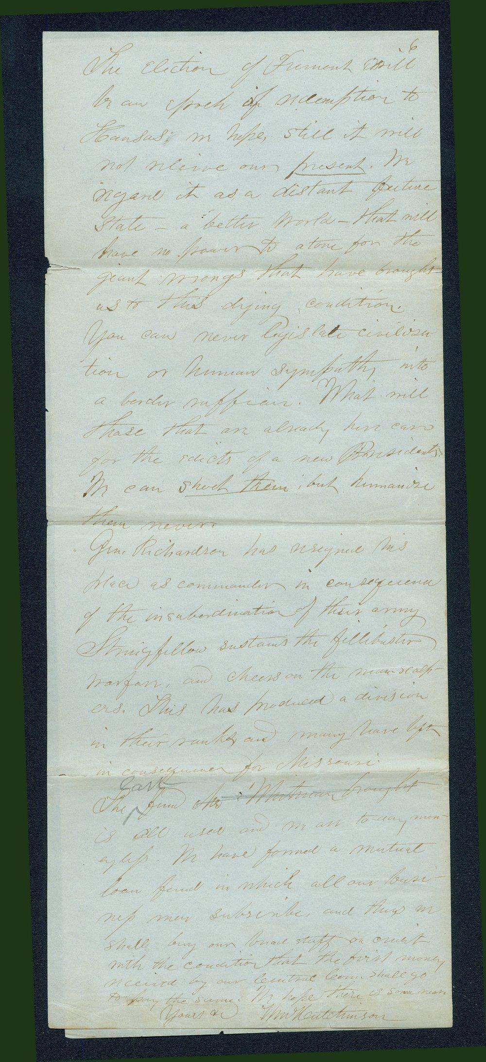 William Hutchinson to Andrew Horatio Reeder - 6