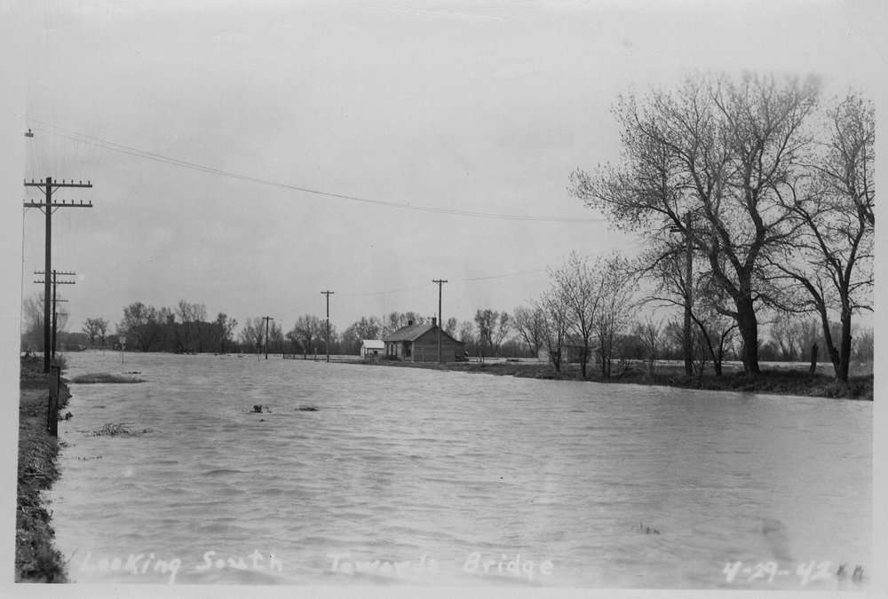 Flood waters, Cimarron, Kansas