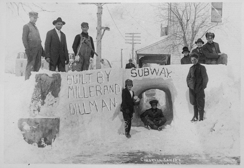 Snow tunnel, Cimarron, Kansas