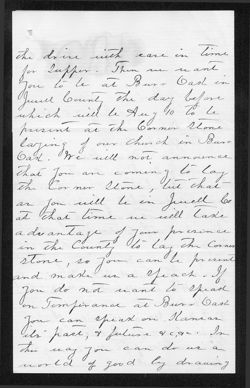 J. H. Lockwood to Governor John St. John - 2