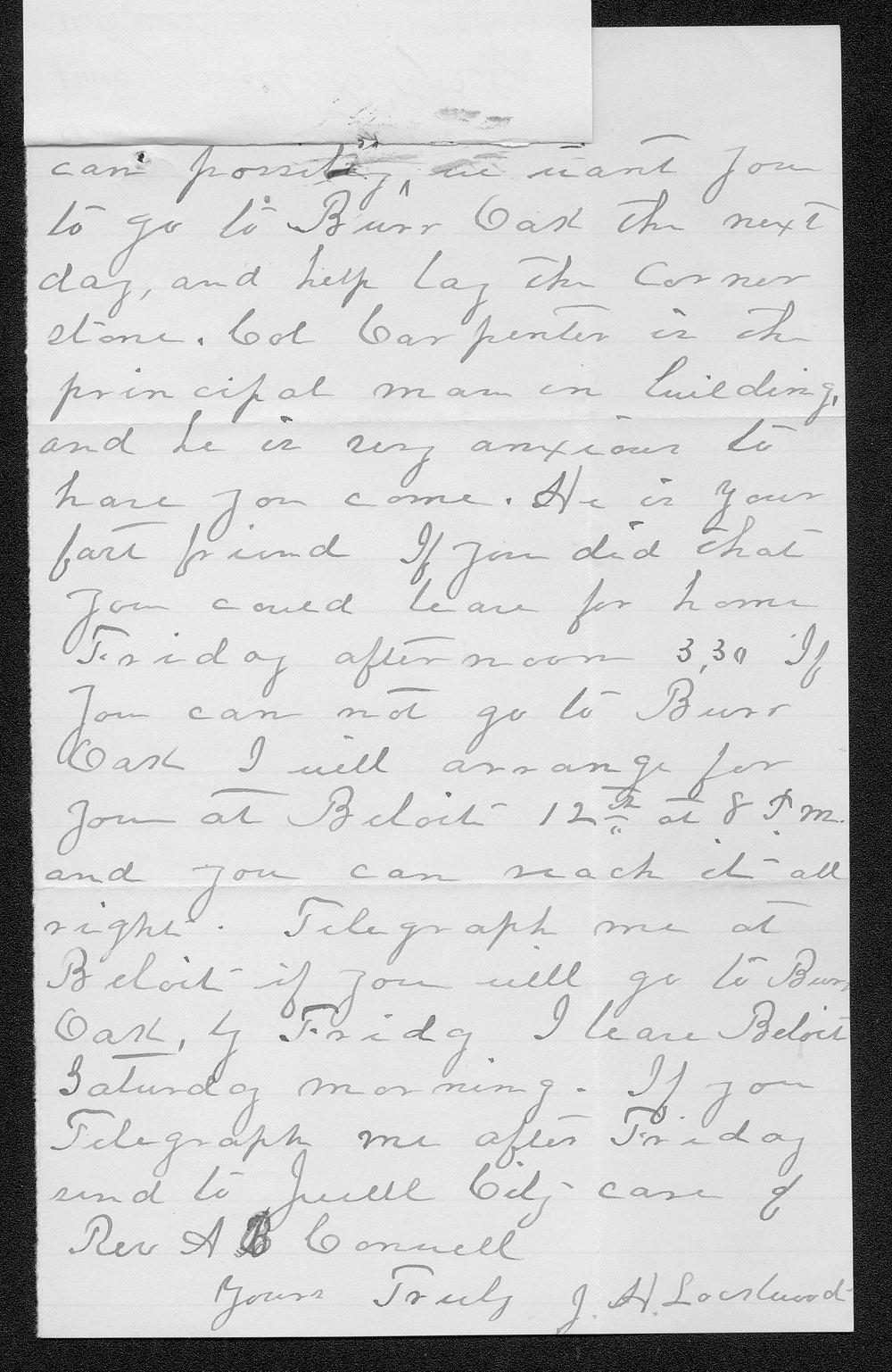 J. H. Lockwood to Governor John St. John - 2