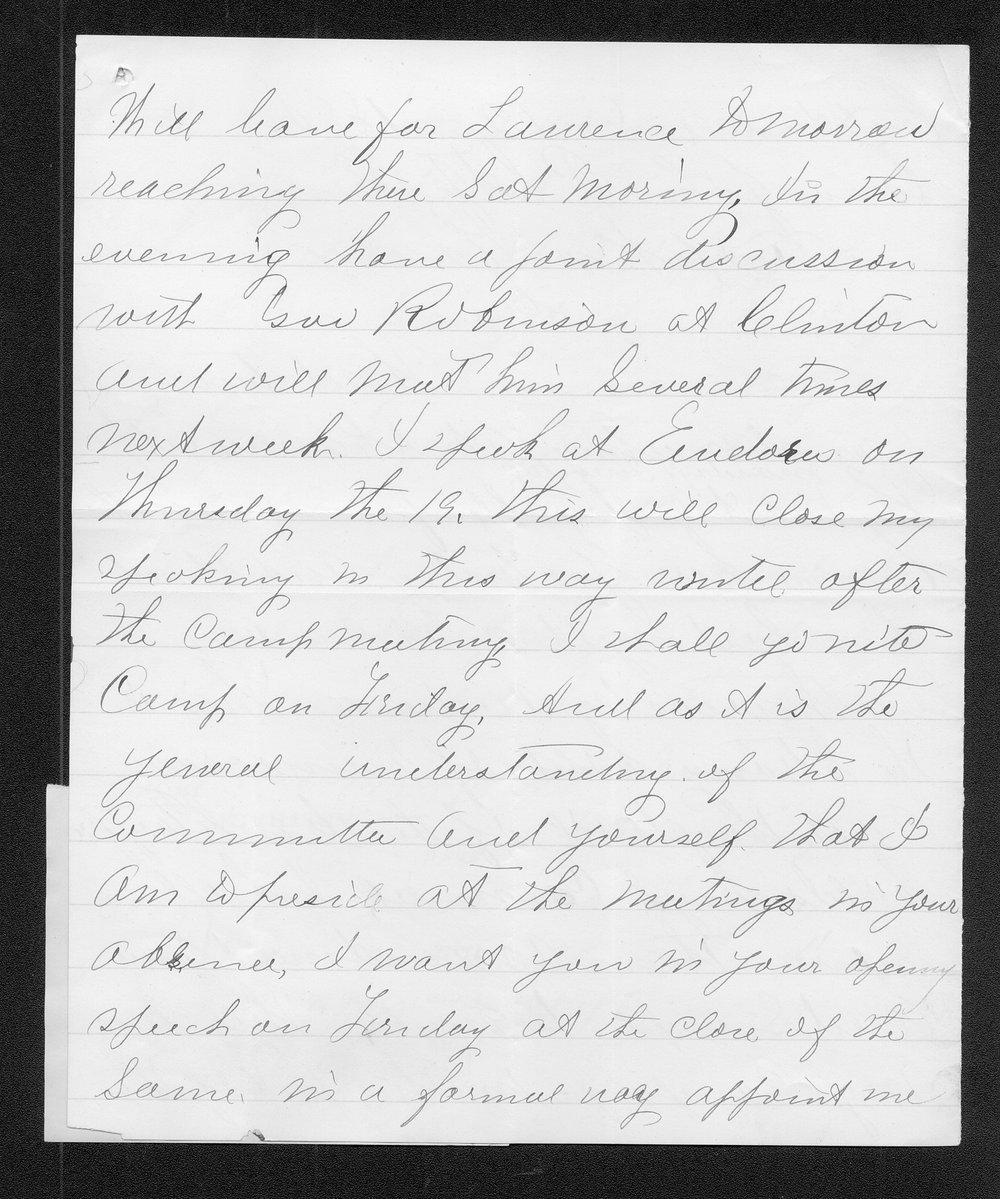 E. B. Reynolds to Governor John St. John - 2