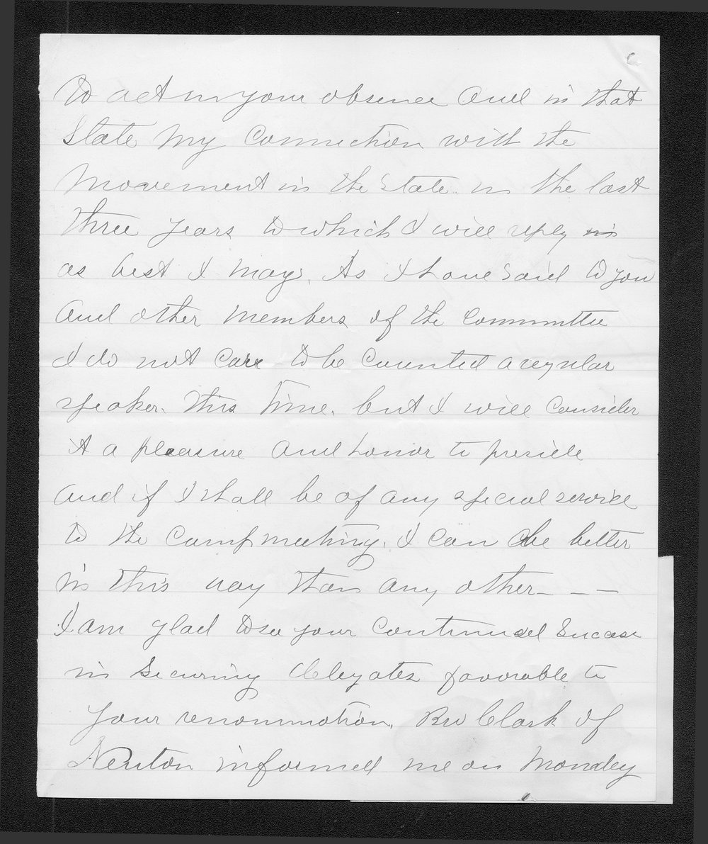 E. B. Reynolds to Governor John St. John - 3