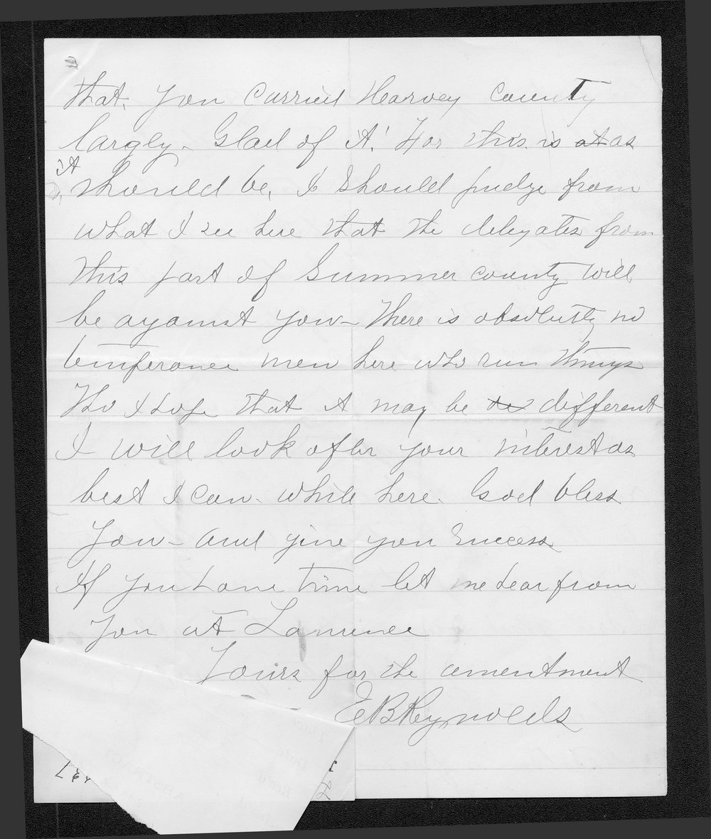 E. B. Reynolds to Governor John St. John - 4