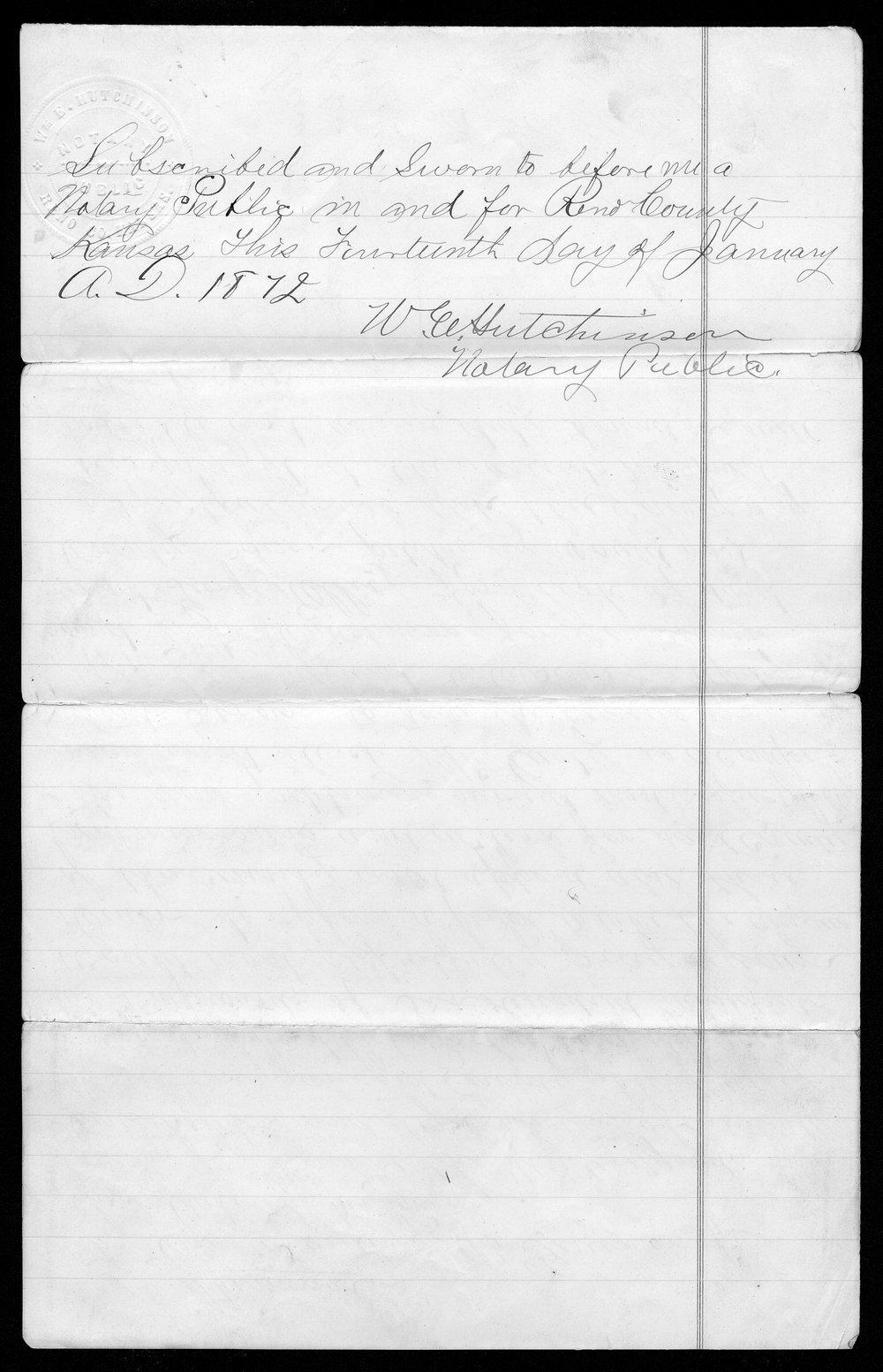 Barber county organization records - 4