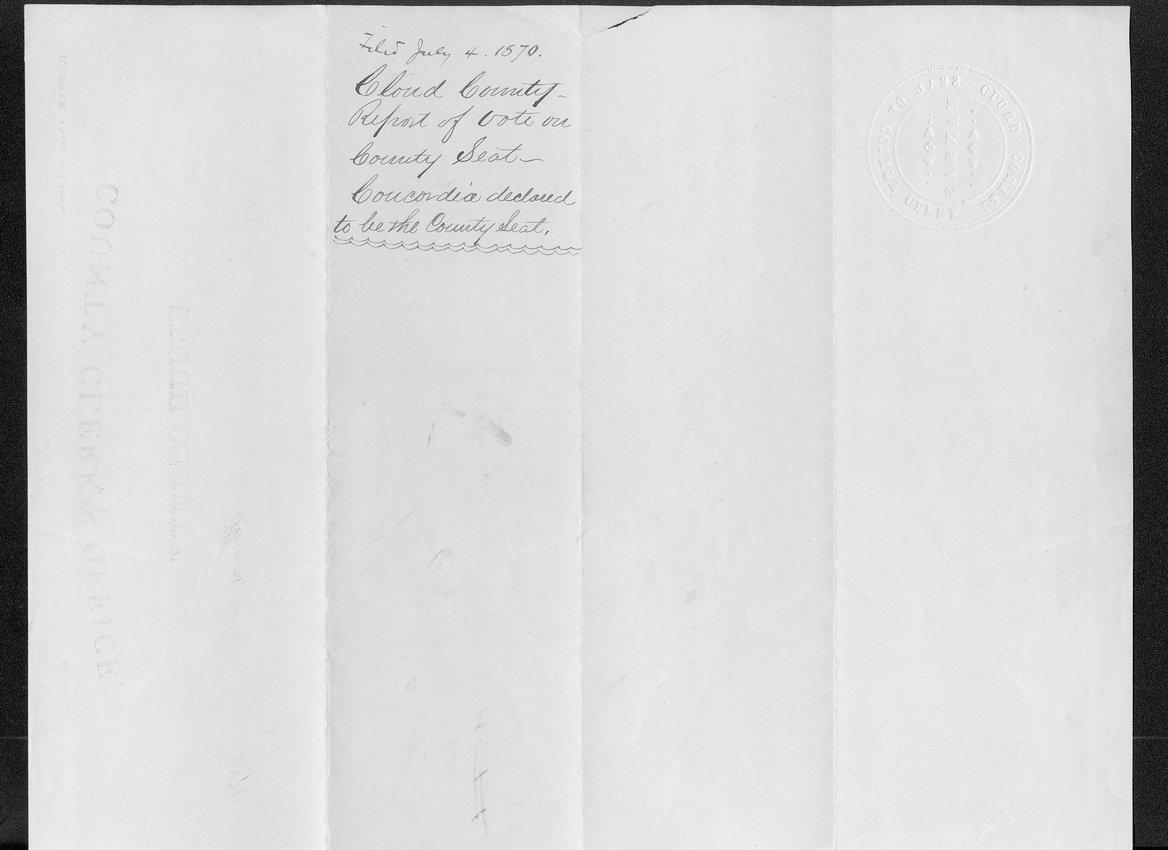 Cloud County organization records - 2
