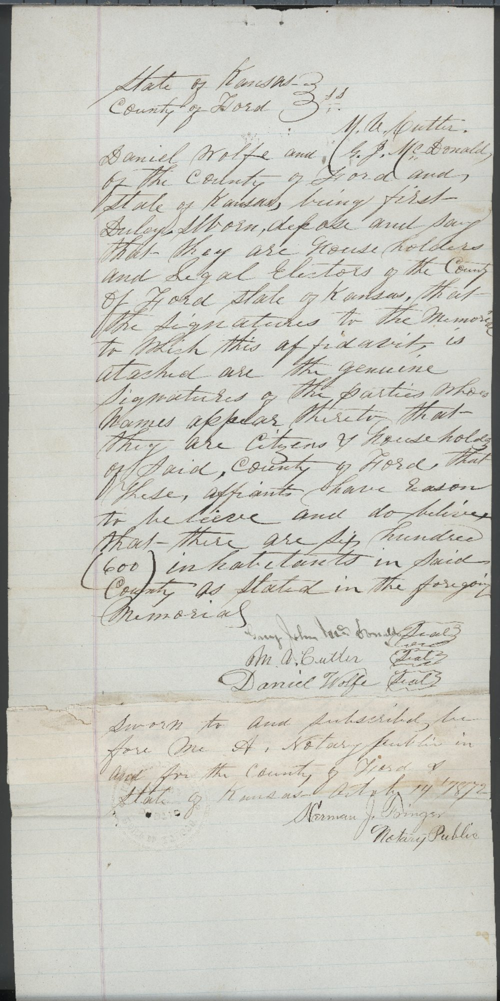 Ford County organization records - 1