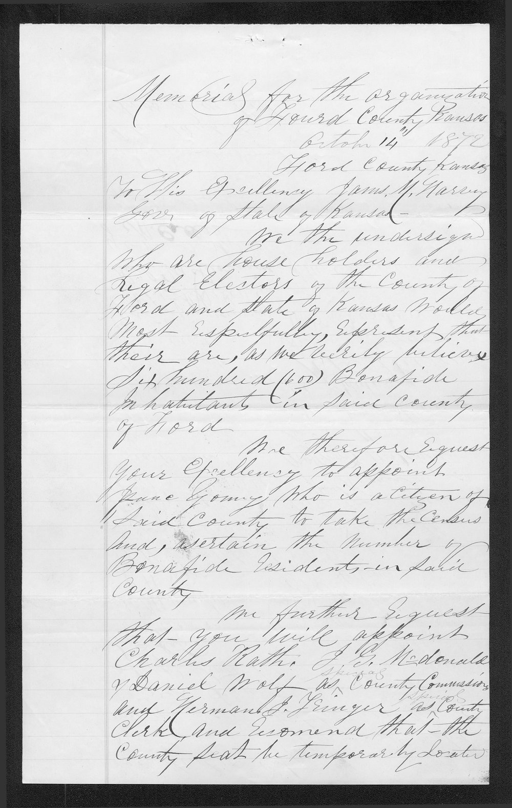 Ford County organization records - 2