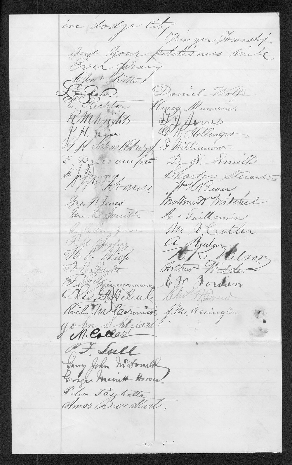 Ford County organization records - 3