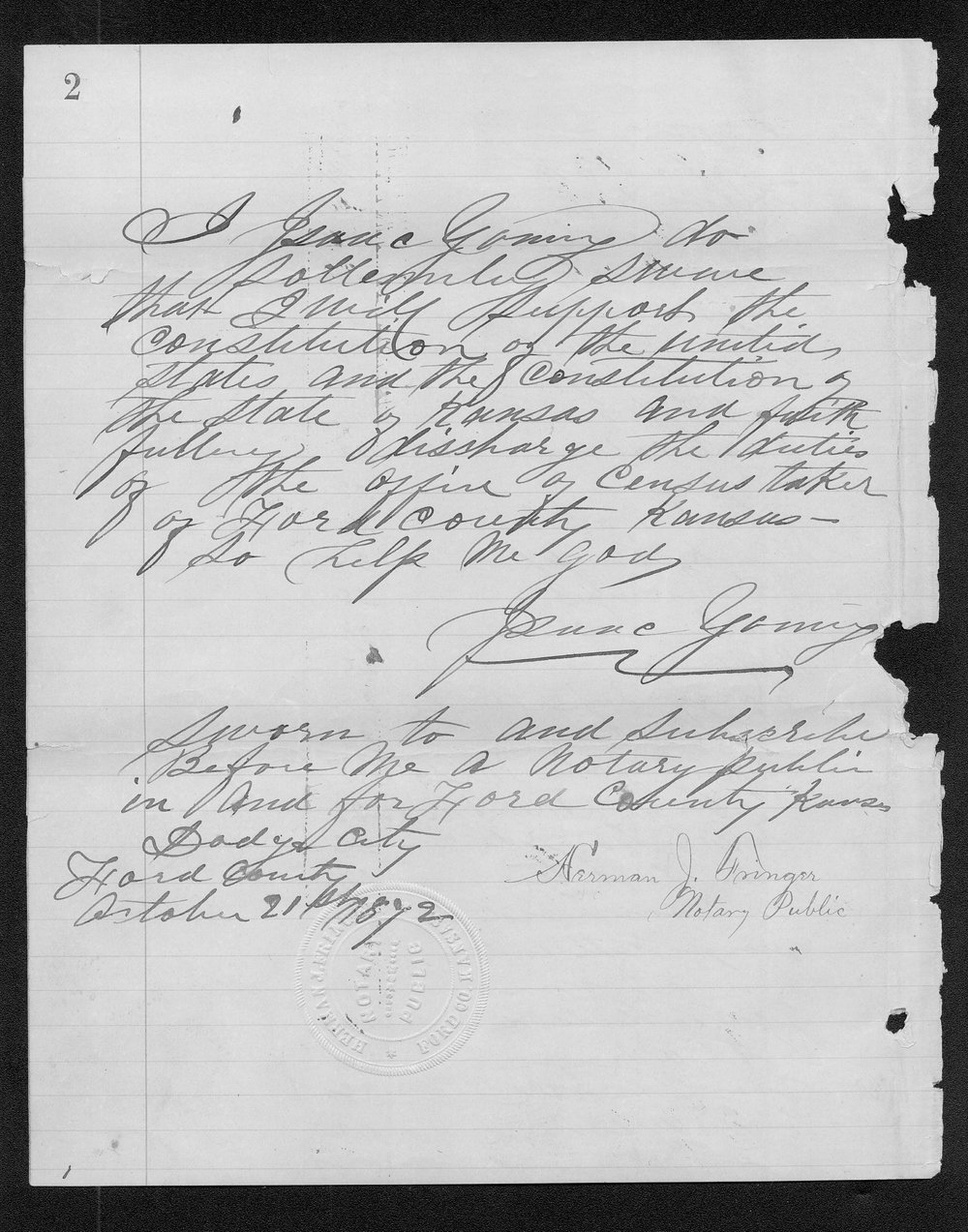Ford County organization records - 6
