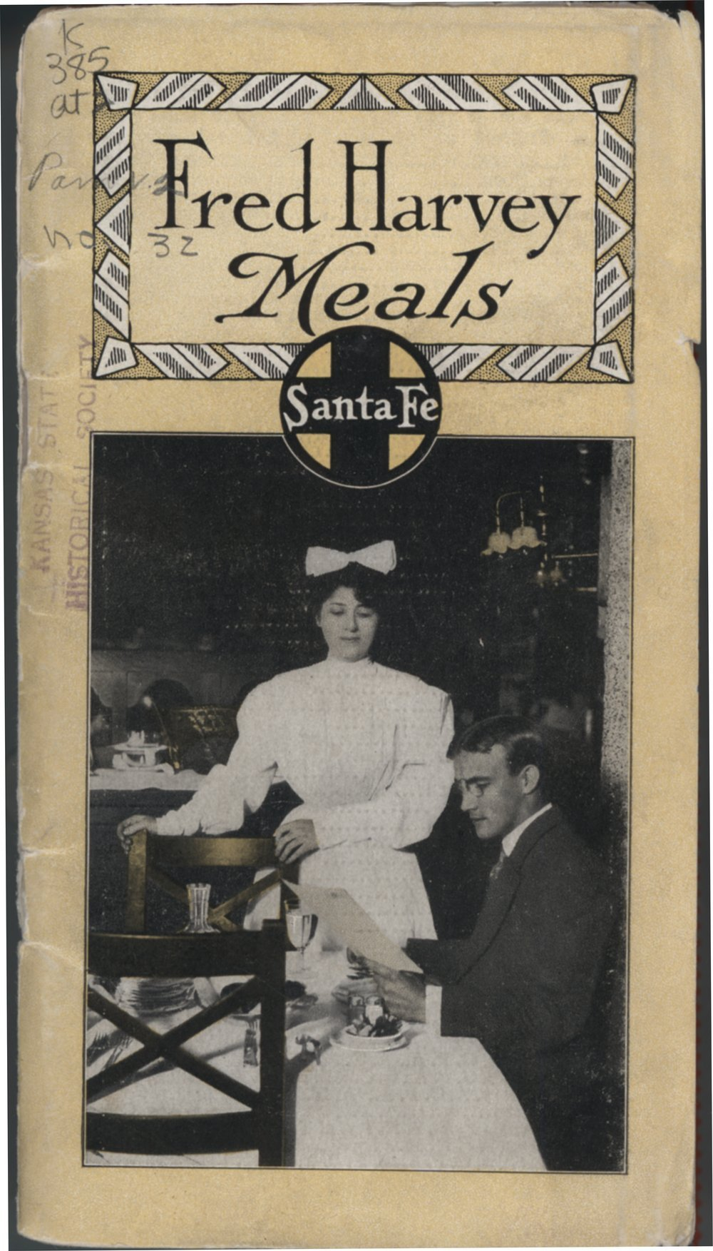Fred Harvey meals, Santa Fe Railway - Front Cover