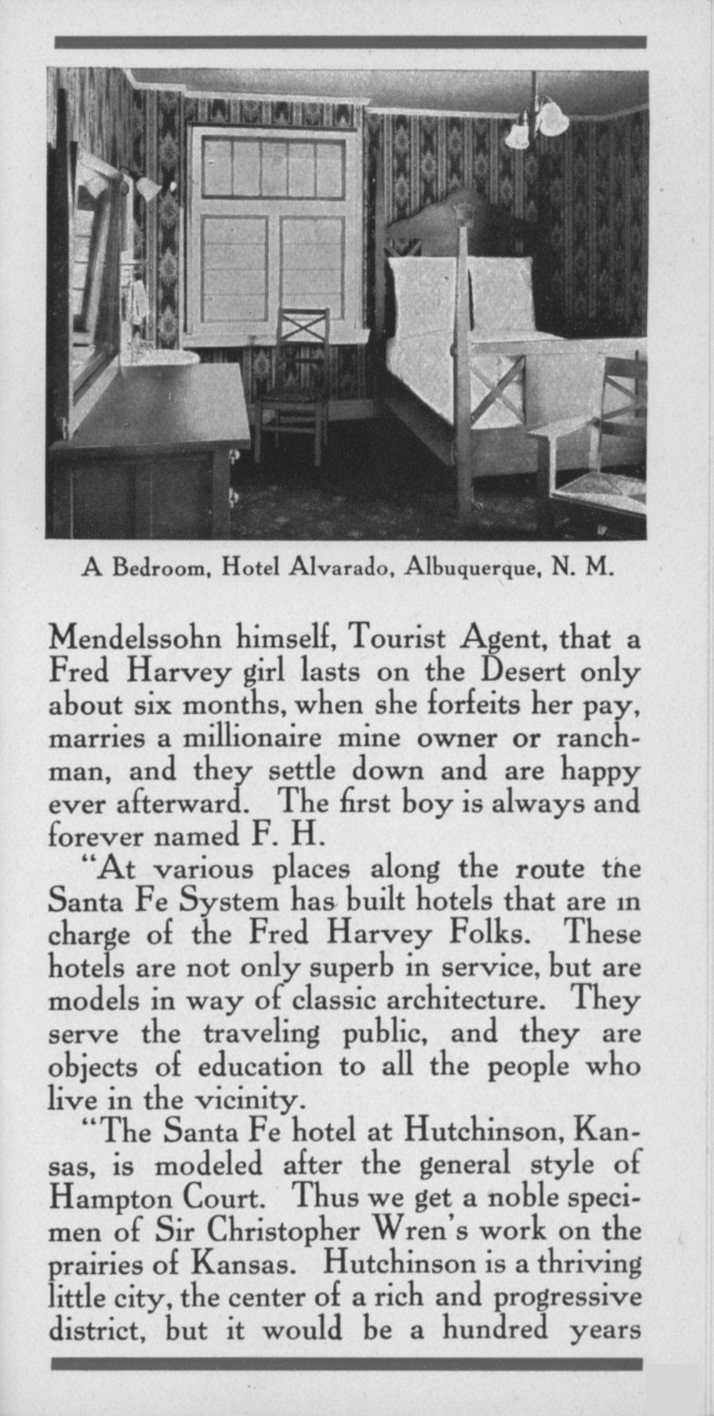 Fred Harvey meals, Santa Fe Railway - 11