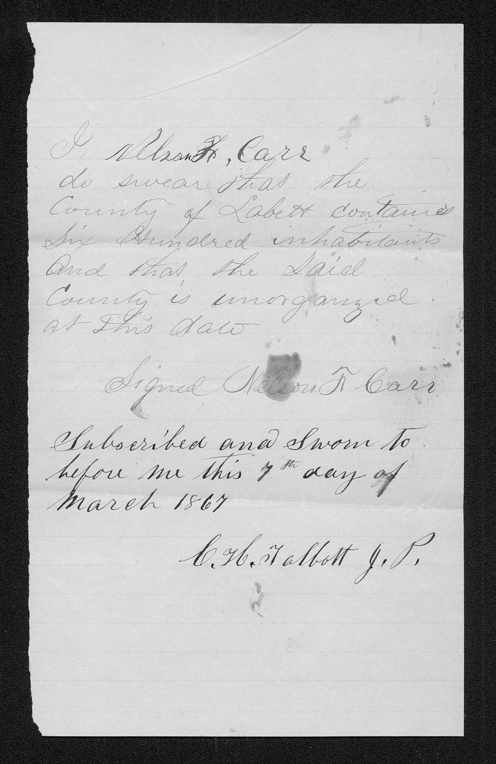 Labette County organization records - 3