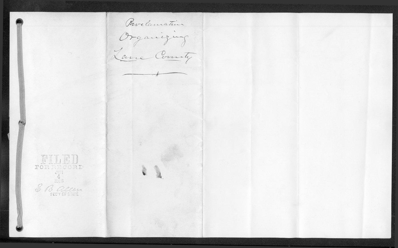 Lane County organization records - 3
