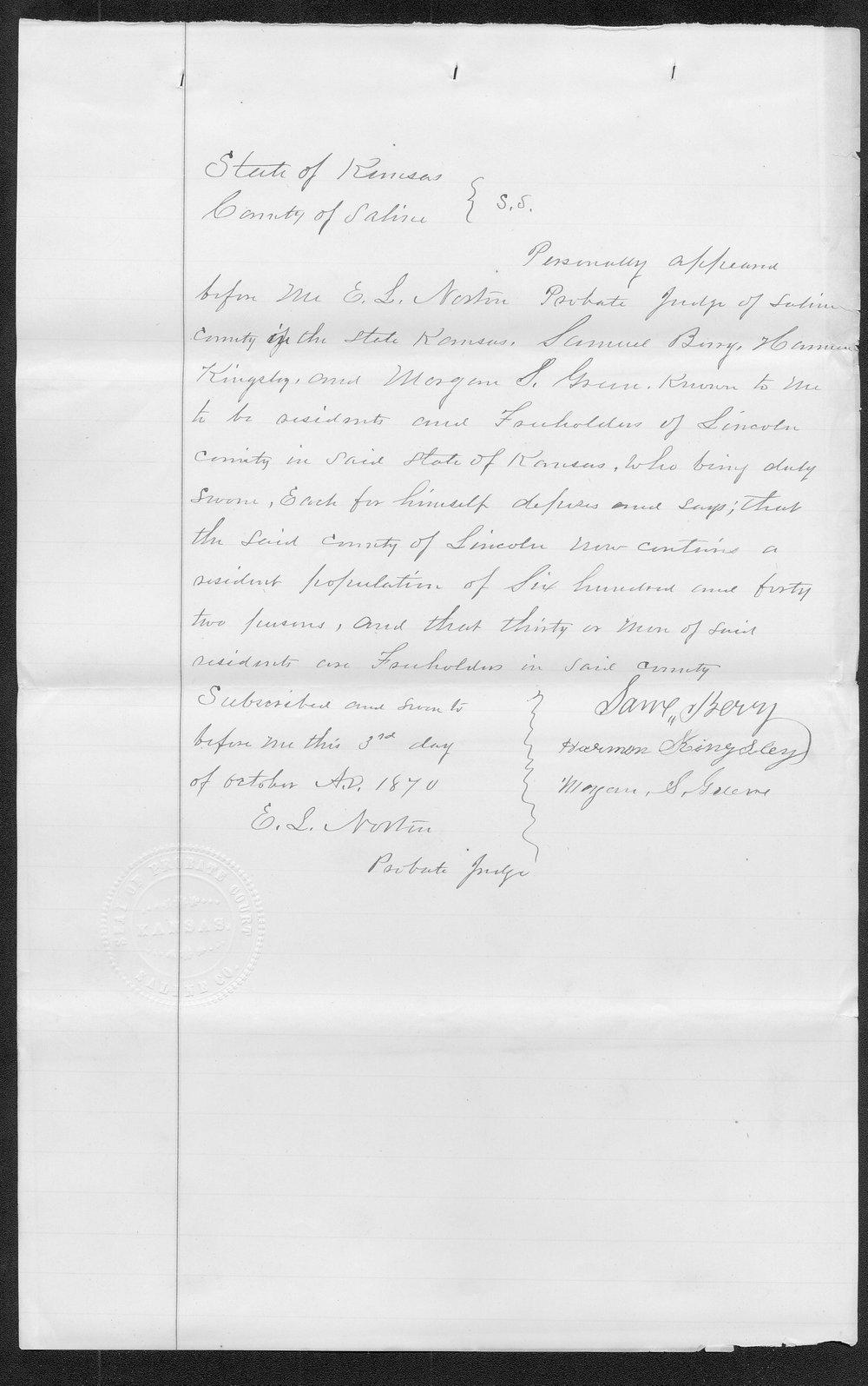 Lincoln County organization records - 54