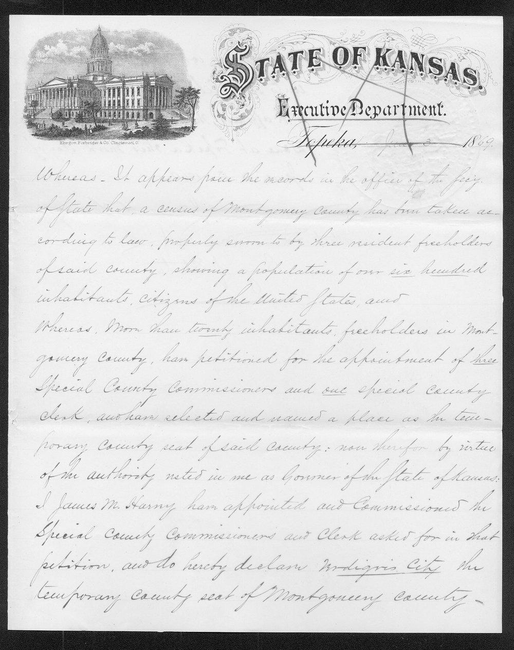 Montgomery County organization records - 1