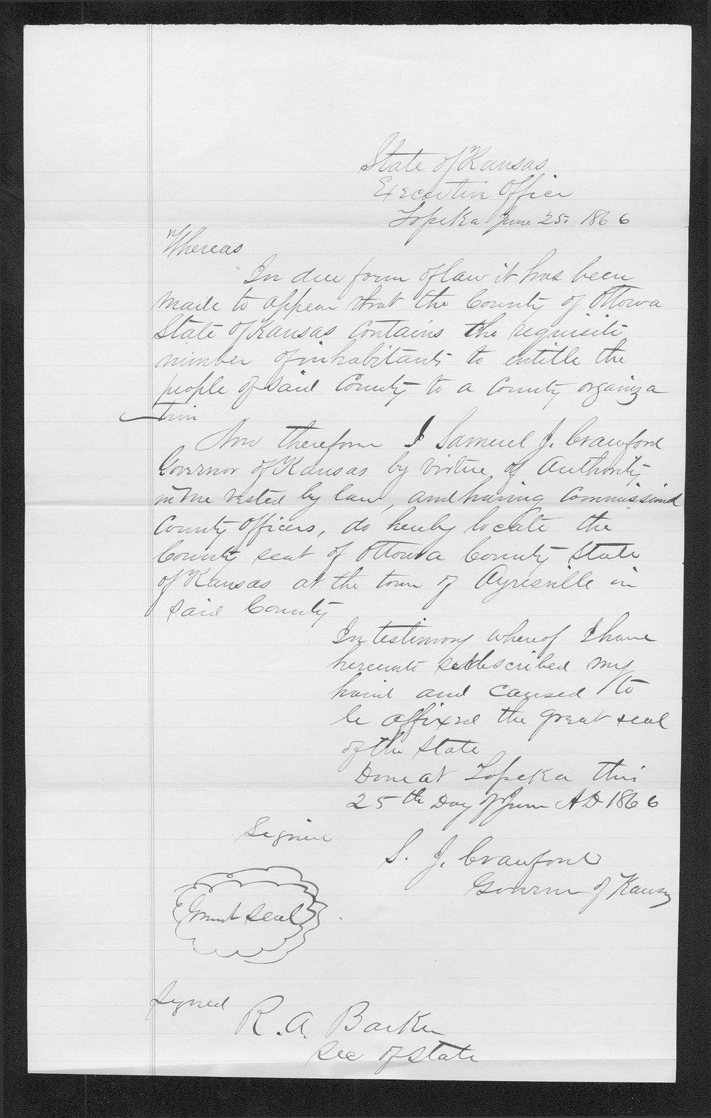 Ottawa County organization records - 8