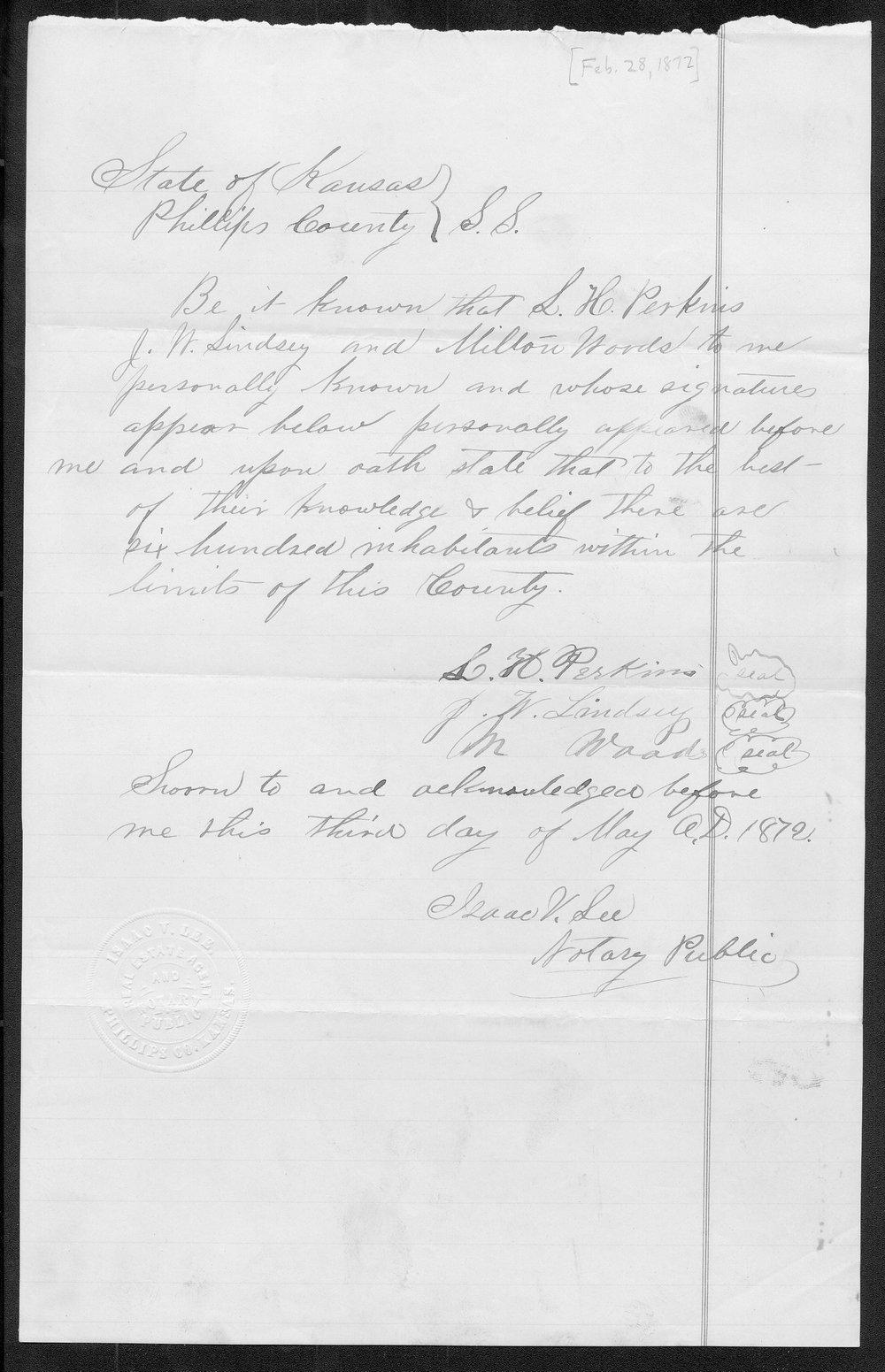 Phillips County organization records - 1