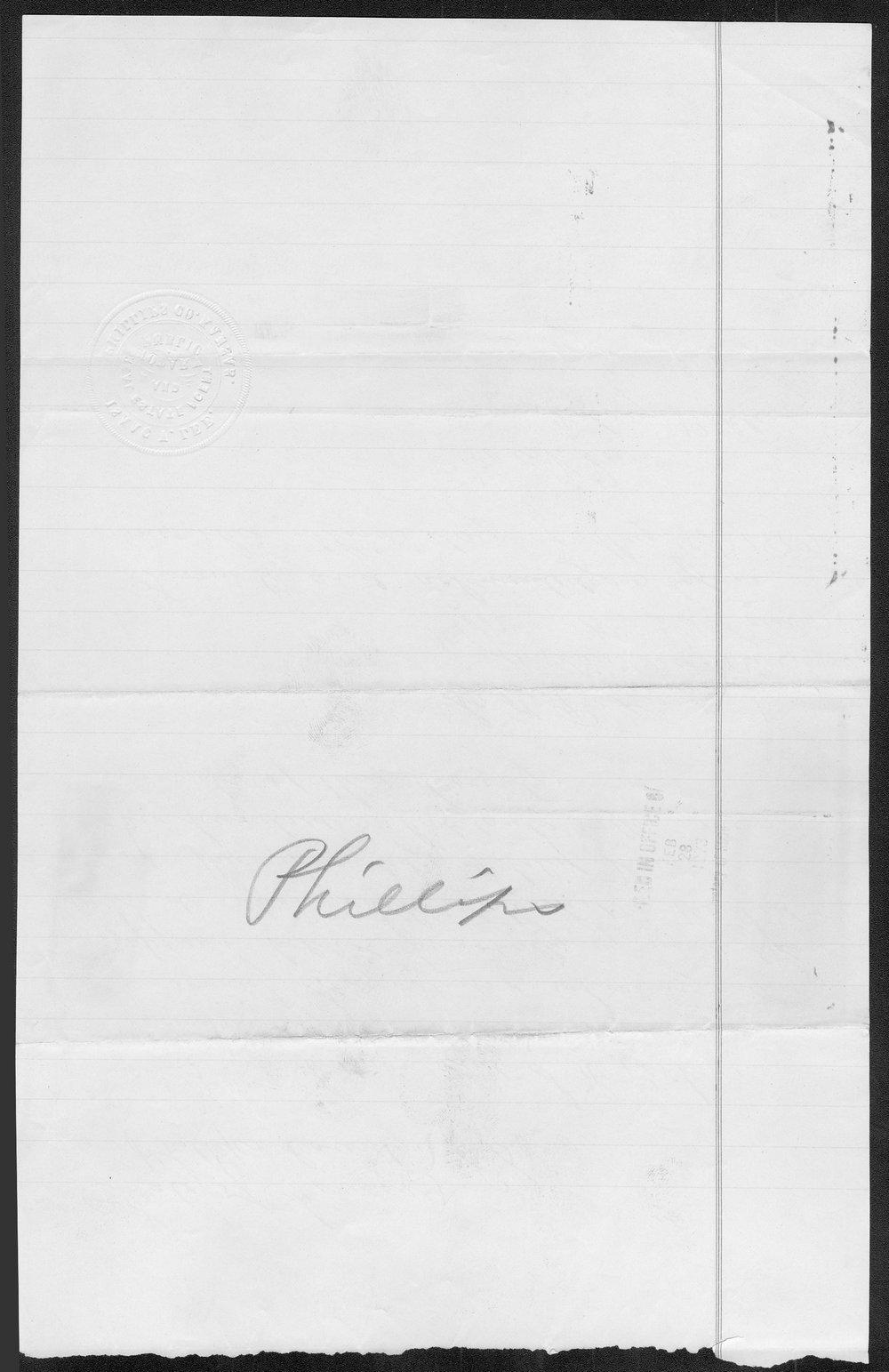Phillips County organization records - 2