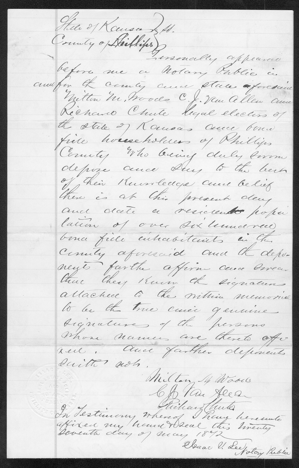 Phillips County organization records - 9