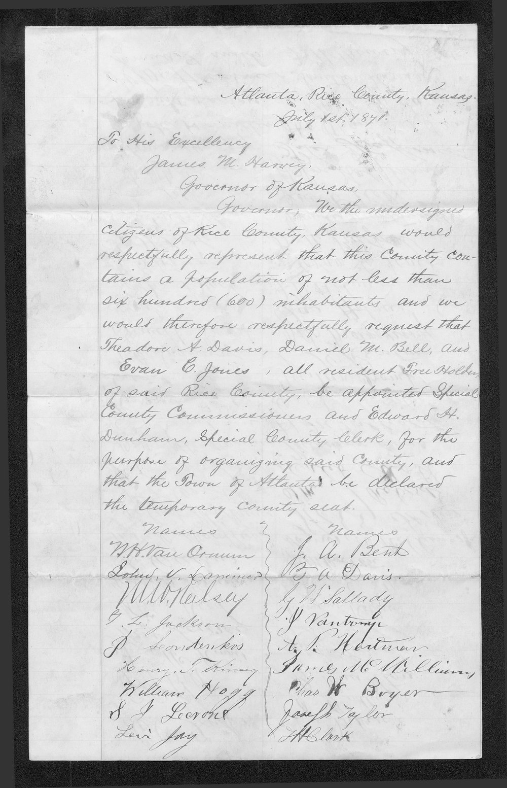Rice County organization files - 3